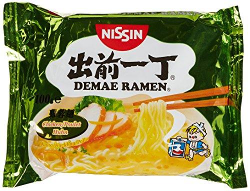 Nissin Demae Ramen – Huhn, Einzelpack, Instant-Nudeln japanischer Art, mit Hühnerfleisch-Geschmack, Sesamöl & asiatischen Gewürzen, schnell & einfach zubereitet, asiatisches Essen (1 x 100 g)
