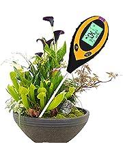 WMLBK 4-in-1 bodemtester bodemvochtigheidstester, pH-meter bodemvochtigheidsmeter vochtigheidsmeter, temperatuur en bodem, pH-tester voor plantenaarde, tuin, boerderij, gazon, indoor, outdoor