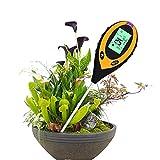 WMLBK Tester 4 in 1, misuratore di umidità del suolo, misuratore di umidità del suolo, misuratore di umidità, temperatura e suolo, per terriccio, giardino, fattoria, prato, interni ed esterni