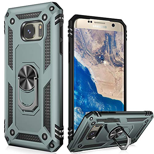 LUMARKE Galaxy Note 20 Case,Pass 16ft Drop Test Military Grade Heavy Duty Cover with Magnetic Kickstand Compatible with Car Mount Holder,Protective Phone Case for Samsung Galaxy Note 20 Pine Green
