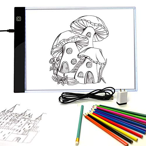 Pinwheel Crafts Light-Up Tracing Pad for Kids, Provides Ultra Bright LED Light...