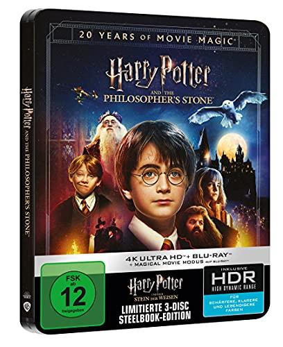 Harry Potter und der Stein der Weisen - Jubiläums-Edition mit Magical Movie Mode Limited Steelbook (4K UHD + BD) [Blu-ray]
