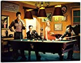 Wall Art Picture Canvas Painting James Dean Elvis Marilyn Monroe Billiards Snooker Modern Prints Poster Artwork Home Decor for Living Room Office Coffee Bar Stretched Framed Ready to Hang (30'Hx40'W)