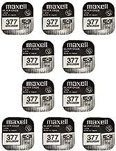 MAXELL SR626SW - 377 - Pila de Óxido de Plata - PACK DE 10 UNIDADES