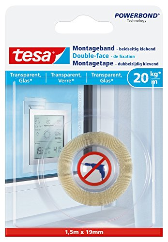 tesa 77740 - Ruban double-face 1,5 m x 19 mm Transparent