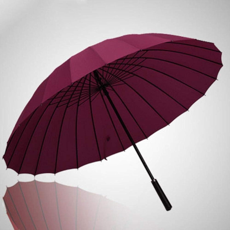 Desti Flakes Umbrella Long-Handled Umbrella Three-Person Umbrella Oversized Straight-Handled Umbrella Double Reinforcement Retro Sunny Umbrella (color   Red-Wine)
