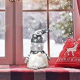 wojonifuiliy Leuchtender Weihnachts-Wichtelpaar Weihnachten Deko Wichtel für die Weihnachtsdeko, Weihnachtsmann Santa Gnom Dwarf Schwedische Tischdeko für Familie Weihnachtsdekoration (Grau) - 4