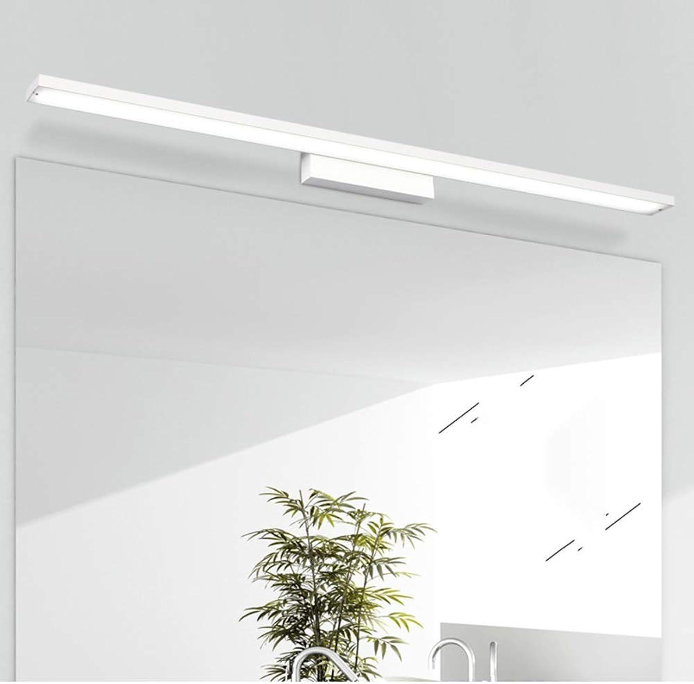 CX-LIGHT Make Up Spiegel Licht Moderne Spiegelscheinwerfer Badezimmer Led-Spiegelscheinwerfer FüR Badezimmer Wasserdichter Wandleuchte,Weiß,16W80CM