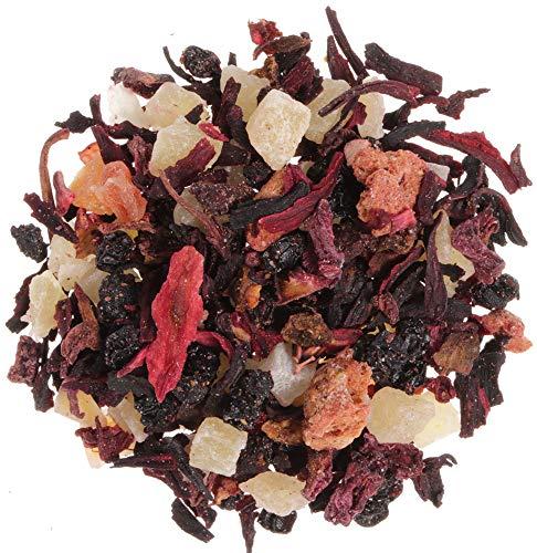 AURESA Früchtetee Erdbeerdschungel | Erdbeer Guave Vanille Geschmack | Aromatischer Tee zum Heiß oder Kalt genießen
