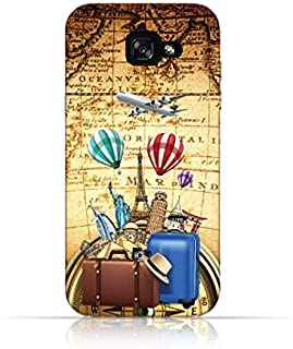 Samsung Galaxy A5 2017 TPU Silicone Case with I Love to Travel 2 Design