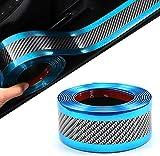 SSyang Pegatinas de umbral de coche, pegatinas de protección de umbral de fibra de carbono, protección de pedal de umbral, adecuado para la mayoría de los coches, para evitar que el coche se raye