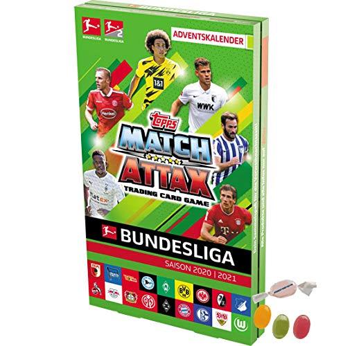 Serie 2 Topps Match Attax Bundesliga 2020/2021 - Fußball Adventskalender 2020, 131 Karten und 2 x Limited Edition Cards zusätzlich 1 x Sticker-und-co Fruchtmix Bonbon