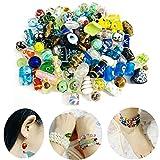 Gocelyn 80 Stück sortierte Glasperlen für Schmuckherstellung, verschiedene Formen und Farben, Lampwork-Glasperlen, lose Perlen zum Basteln von Armbändern und Halsketten