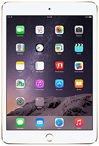 Apple iPad Mini 3 64GB Oro - Tablet (Minitableta, IEEE 802.11n, iOS, Pizarra, iOS, Oro) (Reacondicionado)