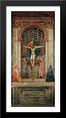 The Trinity 20x40 Large Black Wood Framed Print Art by Tommaso Masaccio