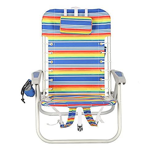 Bodycarewl Tragbarer faltender Strandstuhl, klassischer Griff-Camp-Stuhl mit Becherhalter und gepolsterter Trage-Schultergurt, geeignet für Campingplatz im Freien, Grill, Strand, Garten