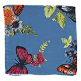 New Luciano Barbera Blue Fancy Pocket Square - x 12.75'