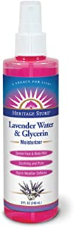 Heritage Store Moisturizing Mist, Lavender Water and Glycerin with Atomizer, 8 Ounce
