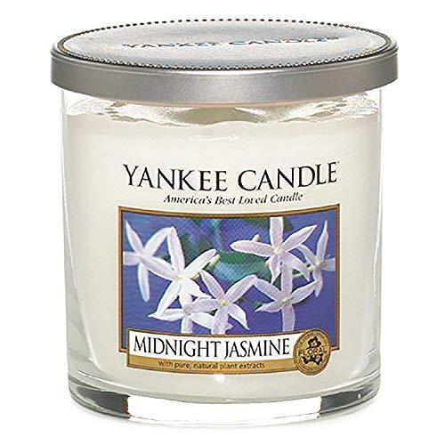 """Yankee Candle """"Midnight Jasmine"""" Stumpenkerze, weiß, klein"""