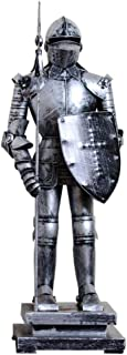 Home Furnishing Ancient Roman Armor Statue Sculpture, Iron Warrior Craft Model Office Living Room Bar Decoration H45CM