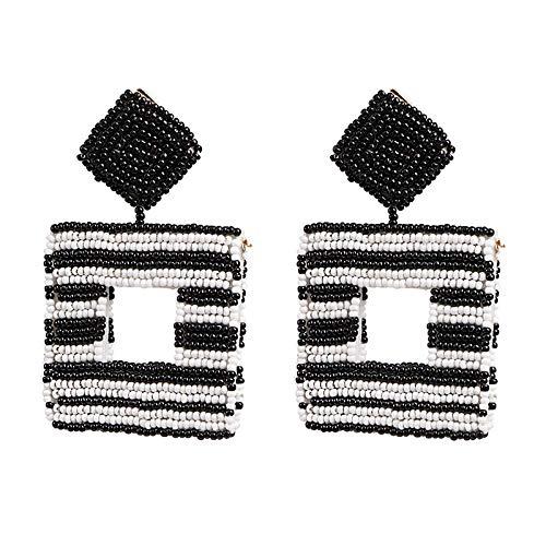 Europäische und amerikanische Reis Perlen Ohrringe für Mode Frauen böhmische kreative Ohrring Schmuck