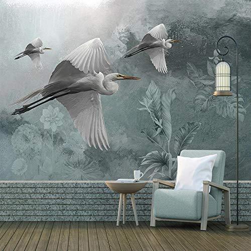 3D Papel Pintado Fotográfico 300(W)X210(H) cm Pájaro animal planta azul Salón Dormitorio Despacho Pasillo Decoración murales decoración de paredes moderna