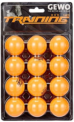 GEWO - Pelota de Entrenamiento 40+, Paquete de 12 Unidades, Unisex Adulto, GEWO - Pelota de Entrenamiento (40 + 12 Unidades), 85931200, Naranja, 40 mm