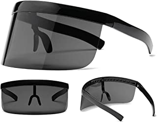 Goofly Face Shield Visor Sunglasses Oversize Safety Face Cover Half Face Protective Visor Sun Protection Large Mirror UV O...