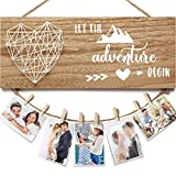 Engagement Wedding Gifts for Engaged Couples, Romantic Picture Frame Boyfriend Girlfriend Photo Holder, 2021 Graduation Gifts Decorations for her him Congratulation Gifts-Let The Adventure Begin
