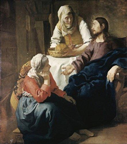 Jan Vermeer – Christ in The House of Martha and Mary 1655-1656 Jan Vermeer (1632-1675/ Dutch) Oil on Canvas National Gallery of Scotland Edinburgh Poster Drucken (60,96 x 91,44 cm)