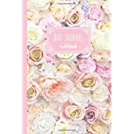 Dot Journal Notebook: Pretty Pink Peonies and Roses Flower Dot Grid Notebook 6x9 Inch for Journaling, Tracking, Organizing and Planning (120 pages)