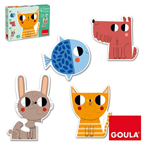 Goula- Form Conjunto de Puzzles Progresivos, Multicolor (53174) (Juguete)