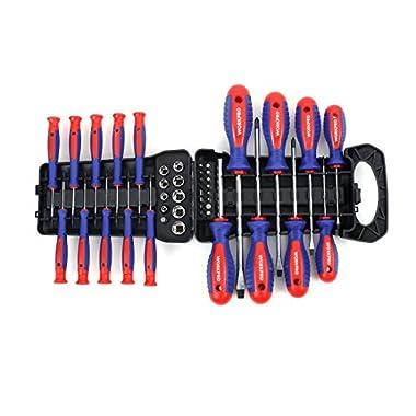 WORKPRO 45-piece Screwdriver Bits Socket Set with Rangement Rack