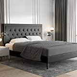 Best King Size Beds - Allewie King Size Platform Bed Frame / Fabric Review