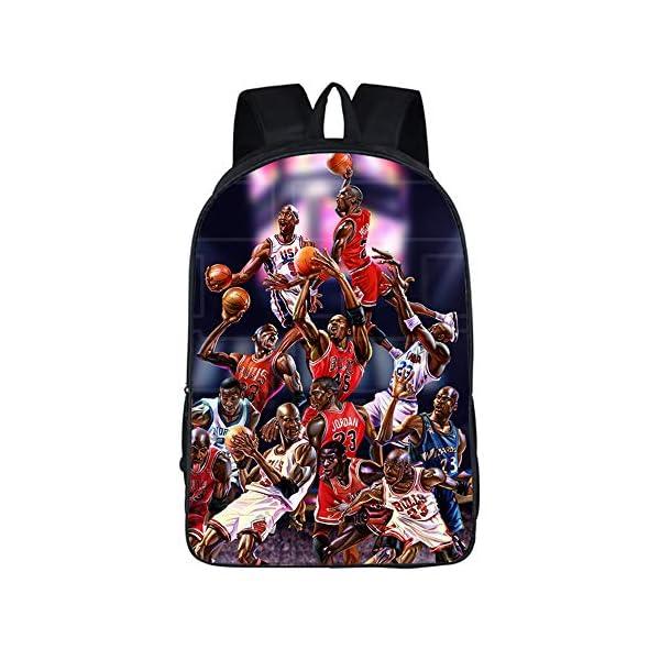 Mochila De Baloncesto De Moda Jordan # 23 para Niños Mochilas De Estudiante Bolsas De Viaje De Regreso A La Escuela…