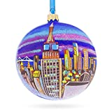 BestPysanky Empire State Building, New York City Glass Ball Christmas Ornament 4 Inches