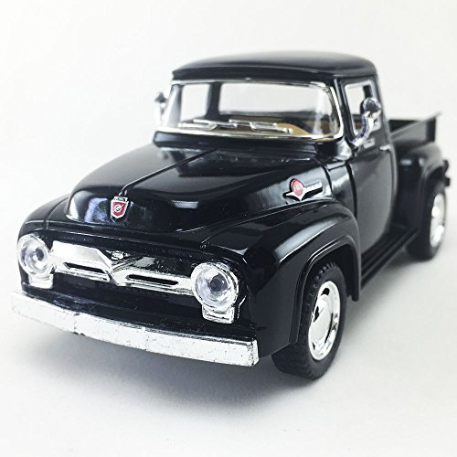 1956 Ford F-100 Pickup, Black Kinsmart 1:38 DieCast Model Toy Car Collectible
