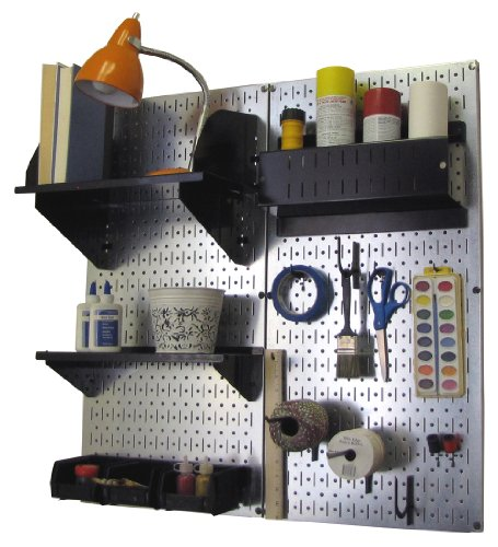 Wall Control Pegboard Hobby Craft Pegboard Organizer Storage Kit with...