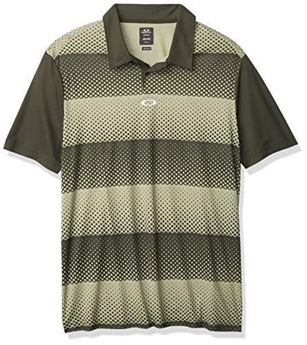 Oakley Men's Polo, Stripes Green, L