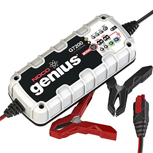 NOCO Genius G7200EU 12V / 24V 7.2 Amp UltraSafe Smart Cargador y Mantenedor de Batería, Negro, Gris, Rojo