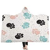 Mantas para sofá y cama,resistentes a las arrugas,anti-fade,Impresión en 3D perro lindo con capucha manta capucha manta engrosamiento manta hogar manta niños siesta manta, 150X200 CM