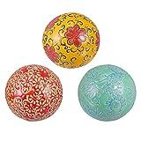 Homoyoyo Bolas de Porcelana Decorativas de 3 Piezas Pequeñas Esferas de Cerámica para Centro de Mesa O Uso Individual para su Uso en Bandeja O Cesta Decoración Colorida