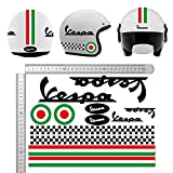 KIT PEGATINAS CASCO VESPA NEGRO ITALIA VINILO VINYL MOTOCICLETAS, BICICLETA, MONOPATÍN