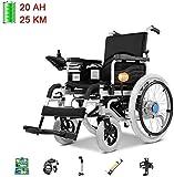 ZHANGYY Silla de Ruedas eléctrica Plegable Modo Dual, Ayuda de Movilidad compacta Silla de Ruedas motorizada Scooter multifunción Totalmente automático para Ancianos discapacitados discapa