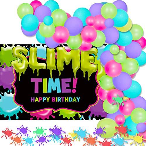 LQH Decoración de Fiesta Limo Limo Globo Garland for la Fiesta de cumpleaños del Tema del Arte Pintura Suministros 70 Paquete