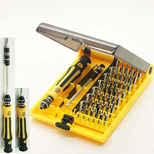 JACKLY 45 in 1 Professionele Draagbare Opening Tool Compact Schroevendraaier Kit Set met Pincet & Uitbreiding Schacht voor Precise Reparatie of Onderhoud
