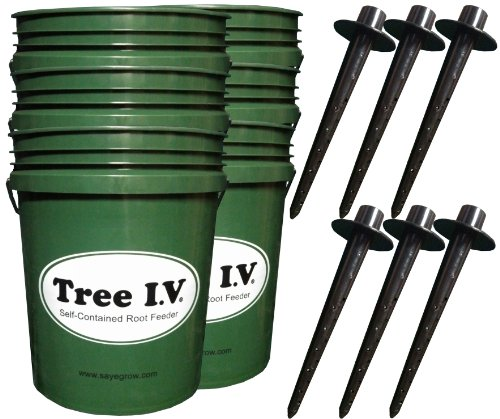 Tree I.V. Original 6-pk | Quick-Fill Deep-Soak Easy-Store | Use for All Trees, Bushes, Plants