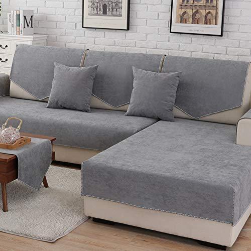 Love House wasserdichte Sofa Abdeckung Für Sektionaltore Couch, Velvet Anti-rutsch Sofa Throw Hund Sofa Überwurf Für Haustiere -grau 110x160cm(43x63inch)