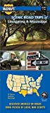 MAD Maps - Scenic Road Trips Map of Louisiana and Mississippi - USRT130