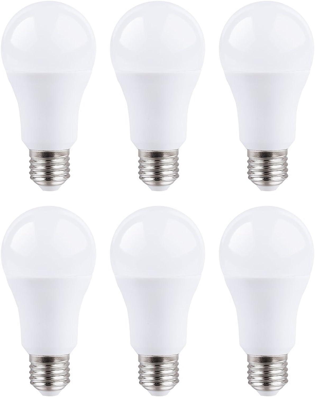 6-er Set 15W E27 LED Leuchtmittel Neutralwei 5000 Kelvin 1400 Lumen satiniert